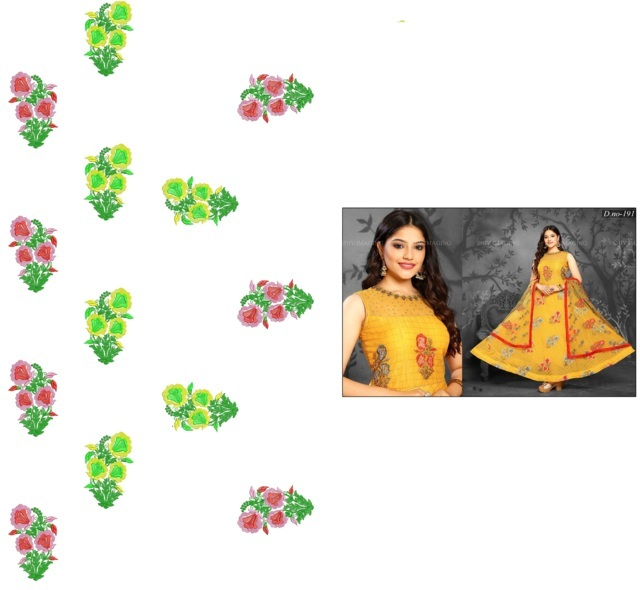 Anarkali / Readymade suit  embroidery Design
