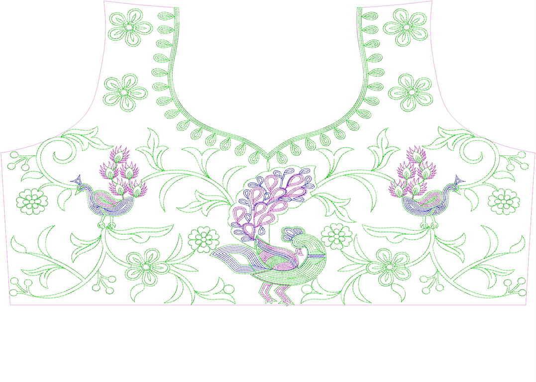 Figure Blouse / Choli Embroidery Design
