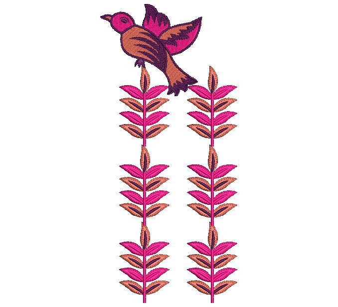Sparrow figure butta embroidery design