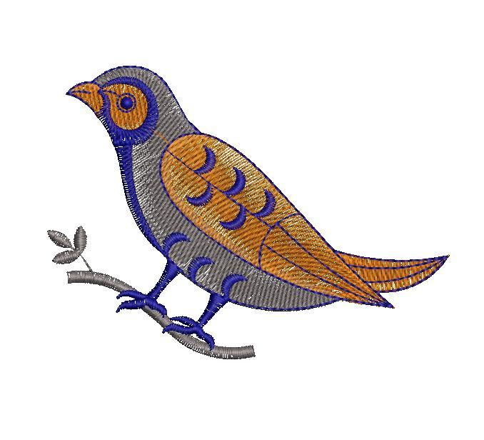Cuckoo Figure concept creative art & home decor Embroidery Design