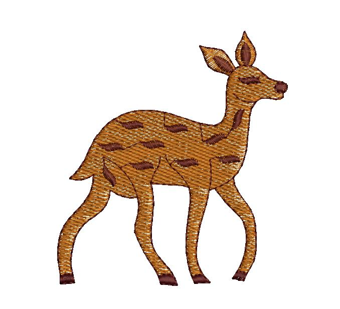 Deer Figure concept creative art & home decor Embroidery Design