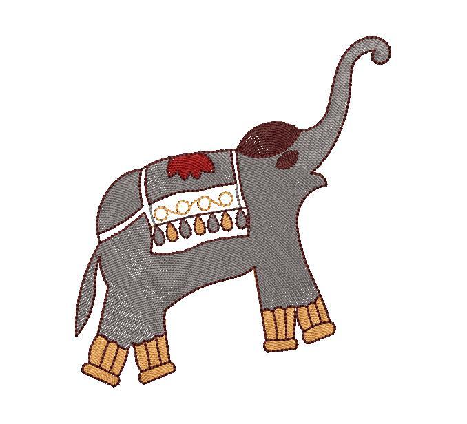 Elephant figure concept Creative Home Décor Embroidery Design