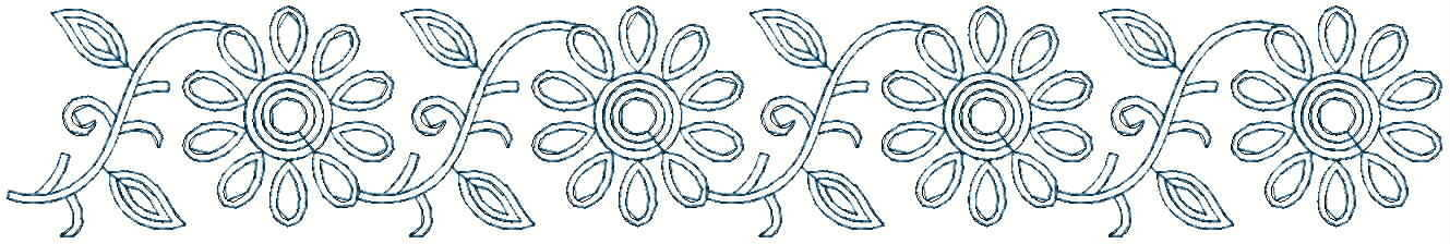 Simple flower climber Lace / Border Embroidery Design