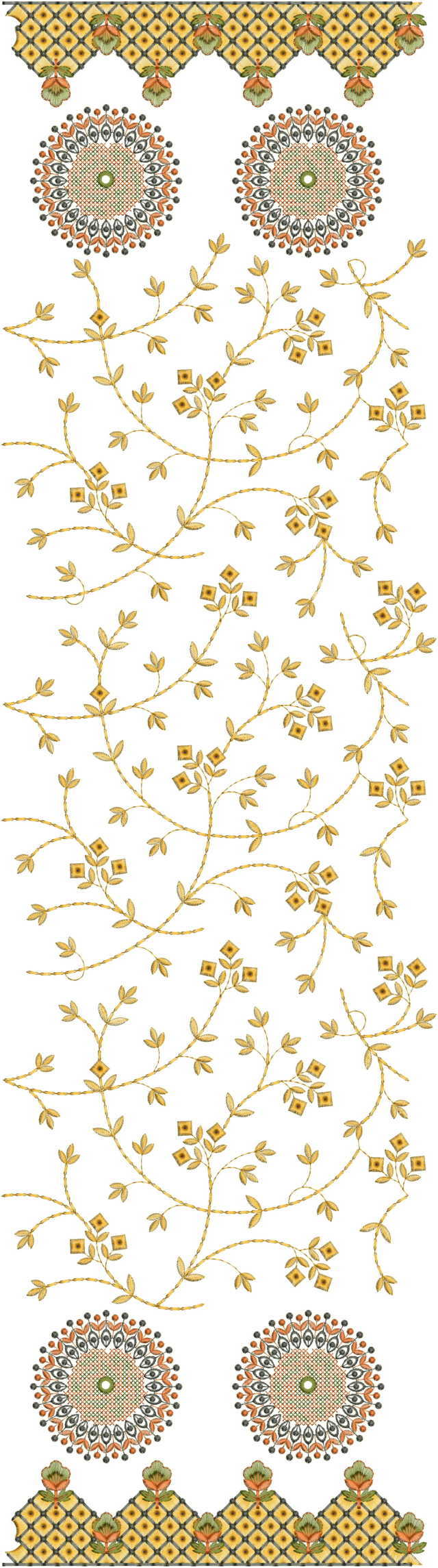 Mal jaal heavy concept duptta  embroidery  design