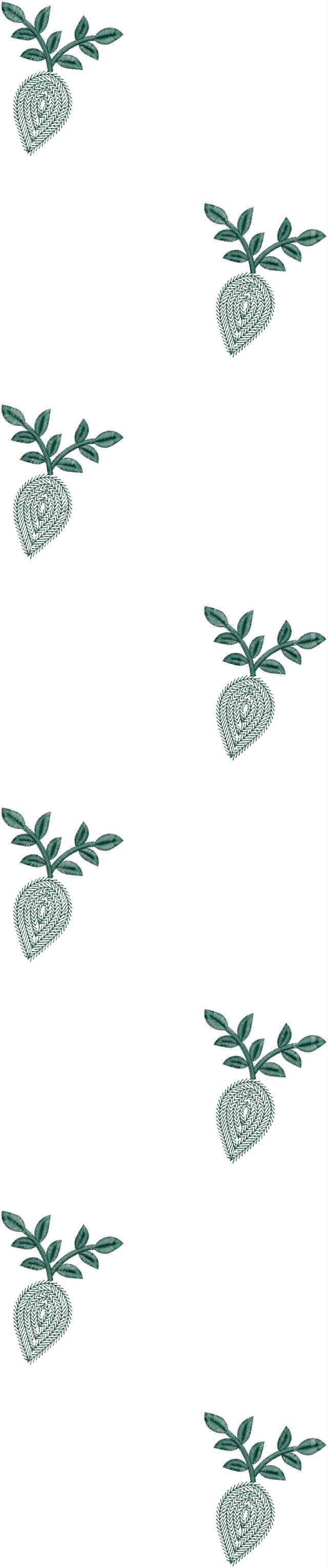 Fancy Leaf concept Duptta rmbroidery design