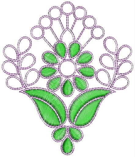 Simple flower butta Embroidery Design