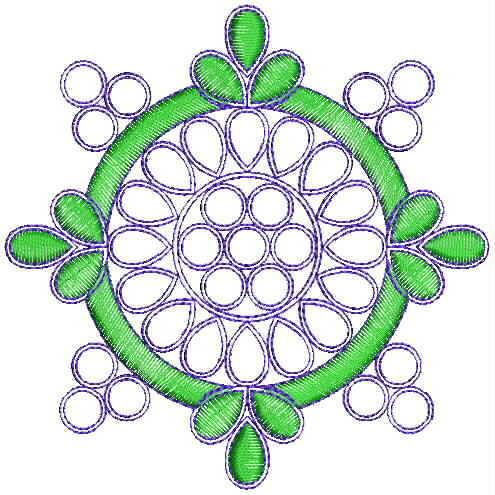 Round concept butta embroidery designs