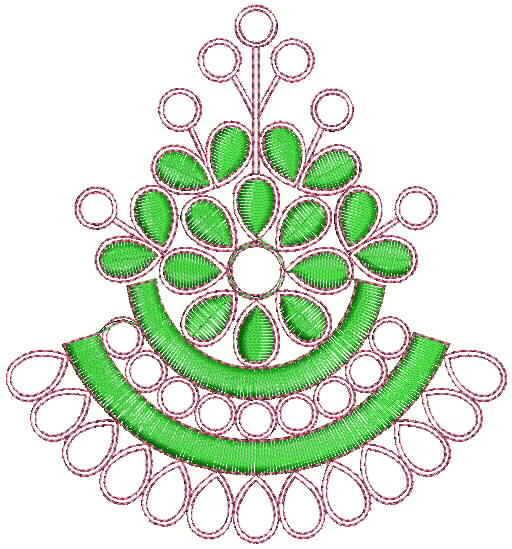 Jumkha concept butta Embroidery Designs