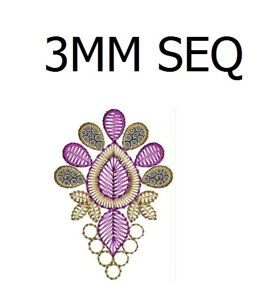 3 mm sequins Butta Embroidery Design