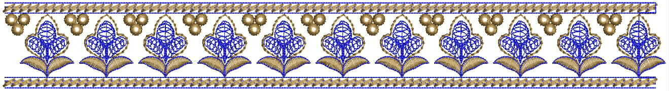 Fancy Lace / Border Embroidery Design