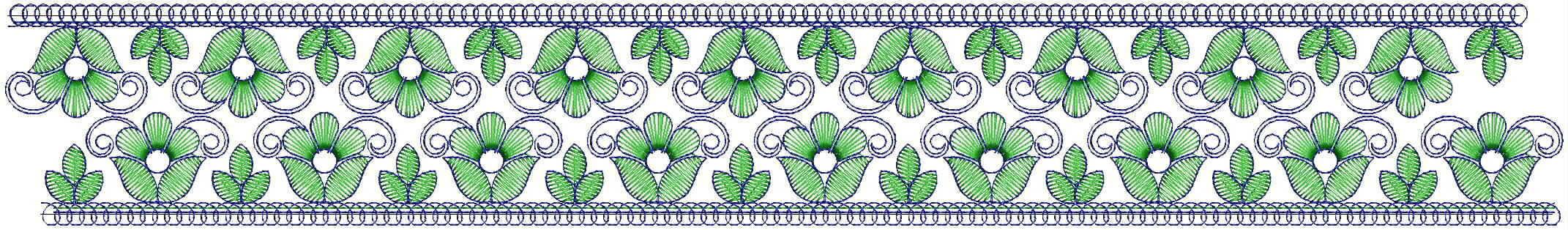Beautiful flower concept Lace / Border Embroidery Design