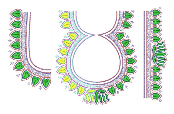 South Indian Blouse Embroidery design