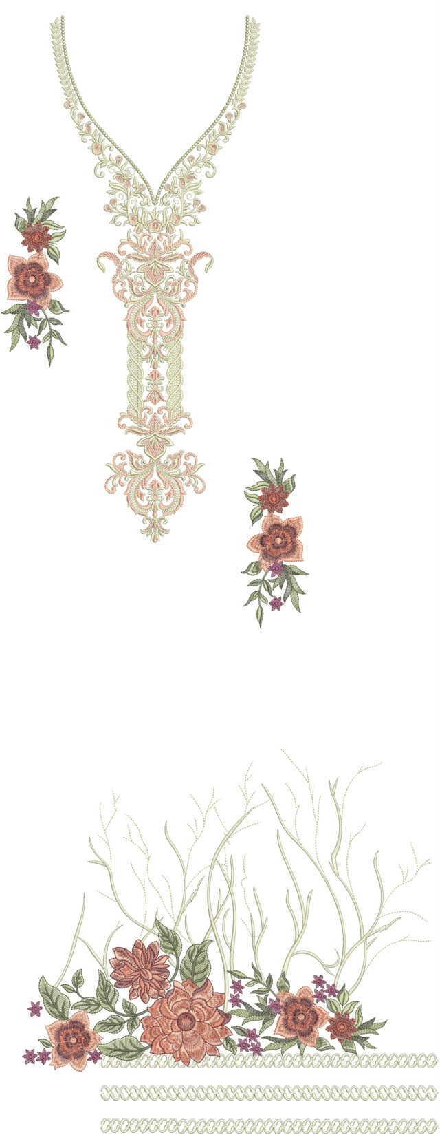 pakistani singal head panal top/duptta embroidery Design